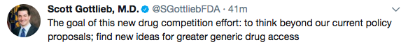 tweet from Scott Gottlieb, MD